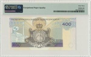 PWPW, 400 złotych 1996 - AB - WZÓR na awersie - PMG 63 EPQ