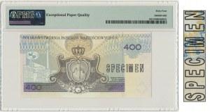 PWPW, 400 złotych 1996 - AB - SPECIMEN - PMG 64 EPQ - RZADKI