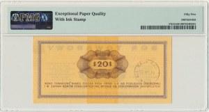 Pewex, 20 dolarów 1969 - Eh - PMG 55 EPQ