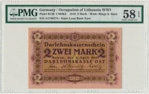 Kowno, 2 marki 1918 - A - PMG 58 EPQ - RZADKI