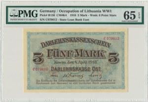 Kowno, 5 mark 1918 - C - PMG 65 EPQ
