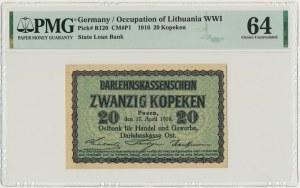 Poznań, 20 kopiejek 1916 - PMG 64