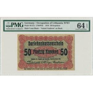 Poznań, 50 kopiejek 1916 krótka klauzula (P2c) - PMG 64 EPQ