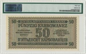 Ukraine, 50 karbowanez 1942 - PMG 58