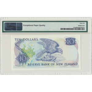 Nowa Zelandia, 10 dolarów (1981-85) - PMG 66 EPQ - podpis Hardie