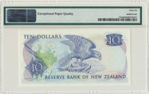 New Zealand, 10 dollars (1981-85) - PMG 66 EPQ - sign. Hardie