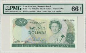 New Zealand, 20 dollars (1981-85) - PMG 66 EPQ - sign. Hardie