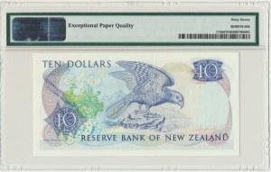 New Zealand, 10 dollars (1985-89) - PMG 67 EPQ - sign. Russel