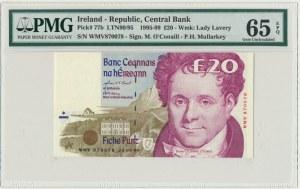 Ireland, 20 pounds 1995-99 - PMG 65 EPQ