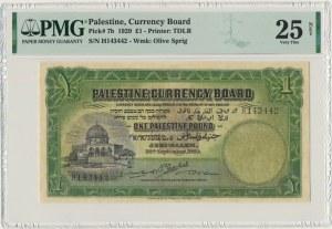 Palestine, 1 pound 1929 - PMG 25 NET