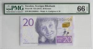 Sweden, 20 kronor (20150 - PMG 66 EPQ