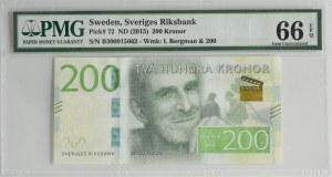 Sweden, 200 kronor (2015) - PMG 66 EPQ
