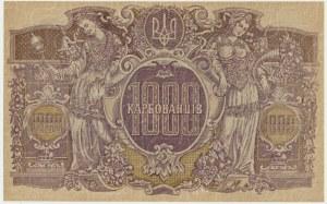 Ukraine, 1.000 karbovanets (1919) - AH- wmk. wavy lines