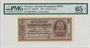 Ukraina, 5 karbowańców 1942 - PMG 65 EPQ