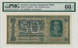 Ukraina, 50 karbowańców 1942 - PMG 66 EPQ