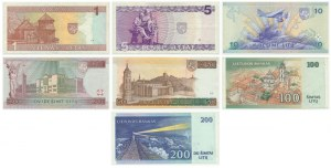 Lithuania, set of 1-200 lit 1993-2000 (7 pcs.)