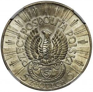 Piłsudski Strzelecki, 5 złotych 1934 - NGC MS64
