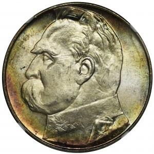 Piłsudski, 10 złotych 1939 - NGC MS64