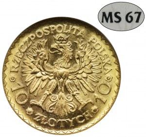 10 złotych 1925, Chrobry - NGC MS67