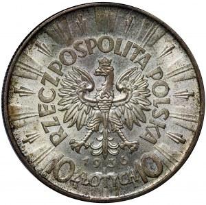 Piłsudski, 10 złotych 1936 - PCGS MS64
