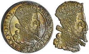 Zygmunt III Waza, Szóstak Malbork 1599 - PCGS MS62 - duża głowa