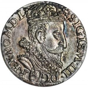 Zygmunt III Waza, Trojak Kraków 1601 - PCGS MS63 - głowa w prawo