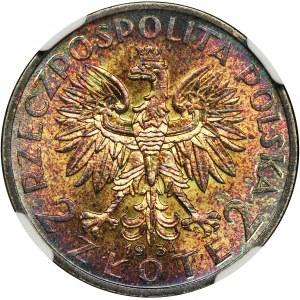 Quuen Jadwiga, 2 zloty 1934 - NGC MS64★