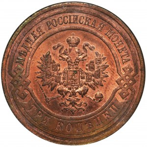 Russia, Nicholas II, 3 Kopecks Petersburg 1915 - NGC MS65 RB