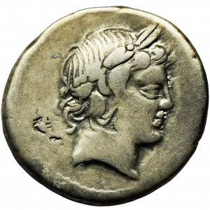 Roman Republic, P. Crepusius, C. Mamilius Limetanus, L. Marcius Censorinus, Denarius