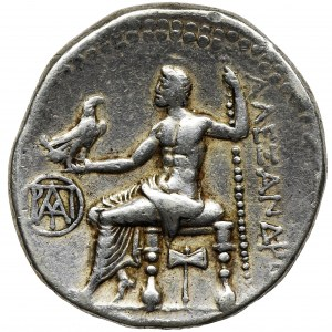 Grecja, Macedonia, Aleksander III Wielki, Tetradrachma - RZADKA