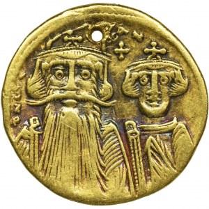 Cesarstwo Bizantyjskie, Konstans II, Konstantyn IV, Herakliusz i Tyberiusz, Solidus