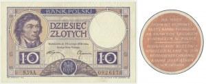 10 złotych 1919 - S.19.A. - brązowa klauzula - WIELKA RZADKOŚĆ