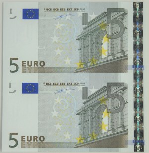 Euro, 5 euro 2002 - uncut sheet