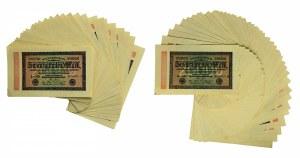Germany, lot 20.000 mark 1923 (75pcs.)