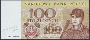 100 złotych 1965 - KH - wydruk z autografem Andrzeja Heidricha