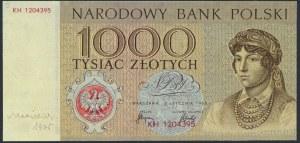 1.000 złotych 1965 - KH - wydruk z autografem Andrzeja Heidricha