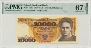 20.000 złotych 1989 - Z - PMG 67 EPQ - RZADKA