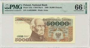 50.000 złotych 1989 - AA - PMG 66 EPQ