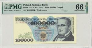 100.000 złotych 1990 - Z - PMG 66 EPQ