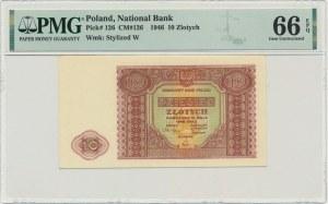 10 złotych 1946 - PMG 66 EPQ