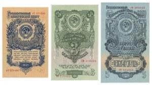Rosja, zestaw 1 - 5 rubli 1947 (3 szt.)
