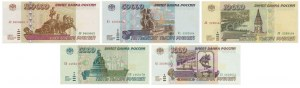 Russia, set of 1.000 - 100.000 rubles 1995 (5pcs.)