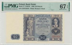 20 złotych 1936 - CR - PMG 67 EPQ
