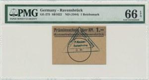 Germany, Ravensbrück, 1 mark (1944) - PMG 66 EPQ