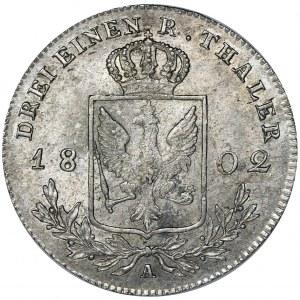 Germany, Kingdom of Prussia, Friedrich Wilhelm III, 1/3 Thaler Berlin 1802 A