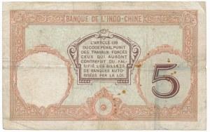 Tahiti, Bank Indochina, 5 francs ND (1927)