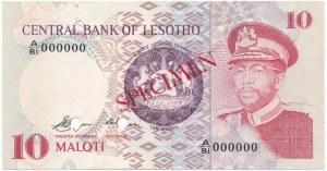 Lesotho, 10 maloti 1981-84 - SPECIMEN -