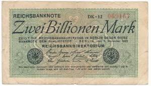 Germany, 2 billion mark 1923