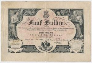 Austria, 5 gulden 1866