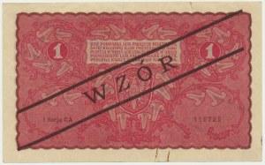 1 marka 1919 - WZÓR - I Serja CA -